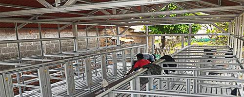 Pemasangan Baja Ringan, pasang baja ringan untuk kandang ternak, pasnag baja ringan murah, harga pasang baja ringan